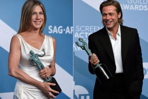 'Parasite' wins at SAG Awards, so do Pitt and Aniston