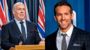 Ryan Reynolds declines B.C. premier's plea to help fight spread of COVID-19