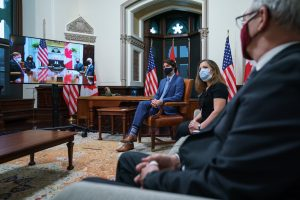COVID-19 pandemic at forefront of Biden, Trudeau first bilateral meeting