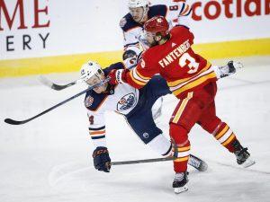 Gaetan Haas scores game-winner for Oilers in 2-1 win over Flames